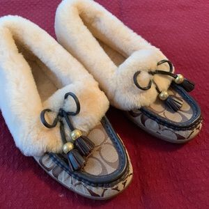 Coach slippers size 9